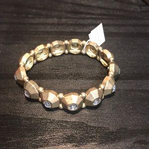 Lia Sophia NWT goldtone and rhinestone bracelet